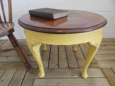 Wooden table painted with Annie Sloan English Yellow paint *Local Delivery* **SOLD**
