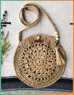 Best 12 Boho Crochet Bags – how to make your own OOAK bag – MotherBunch Crochet – SkillOfKingShell Rattan Bag from March Crochet Bag Pattern Ideas - Page 42 of Do not throw old jeans 🙂Crochet Lacey Charma Neck Warmer - Mode Crochet, Crochet Tote, Crochet Handbags, Crochet Purses, Knit Crochet, Lidia Crochet Tricot, Crochet Shoulder Bags, Macrame Bag, Macrame Mirror