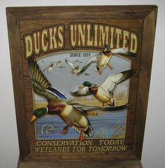 "Guns Ducks Wetlands Conservation Retro Tin Gun Sign Man Cave Home Gift USA 12/"""