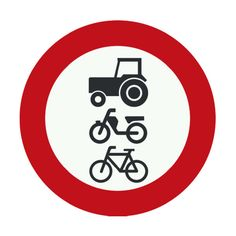 Cyclists, mopeds and tractors prohibited
