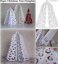 Christmas Tree Printable, Diy Paper Christmas Tree, Christmas Origami, Xmas Tree, Christmas Makes, Noel Christmas, Christmas Projects, Holiday Crafts, 242