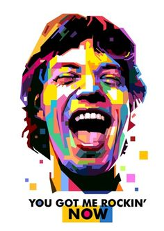 Mick Jagger (Wedha's Pop Art Portrait) by Toni Agustian