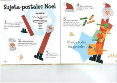 Manualidad infantil: Sujeta postales navideño