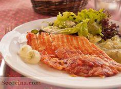 Salmón al grill con salsa de manzana - Receta - Secocina