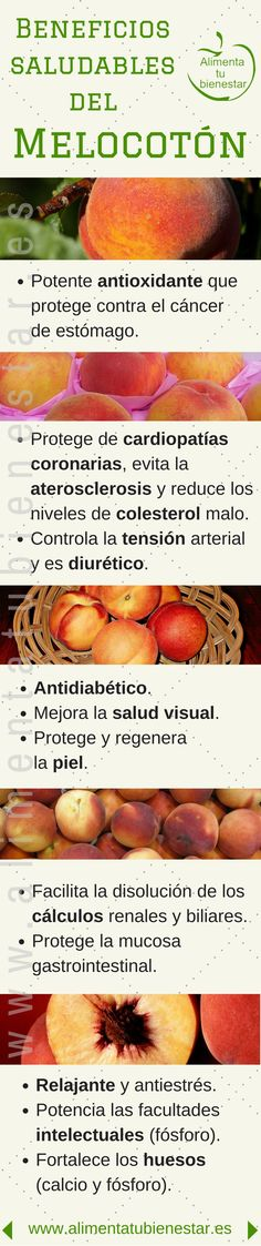 beneficios para la salud de los melocotones