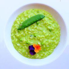 Ризотто с зеленым горошком и горгонзолой / Risotto con piselli e gorgonzola #risotto #ellamartino #food #foodporn