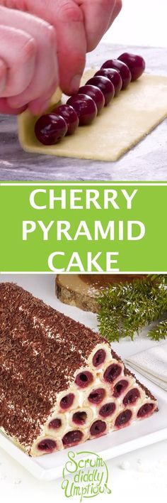 This Cherry Pyramid Cake will make you the star of the party buffet!