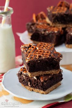 Nutella Pretzel Brownies: Sweet, salty, crunchy, chewy, and nutty all at once.