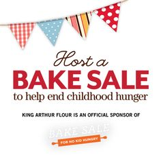 Host a Bake Sale to help end childhood hunger