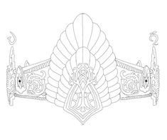 Lord of the rings crown tattoo outline commission.