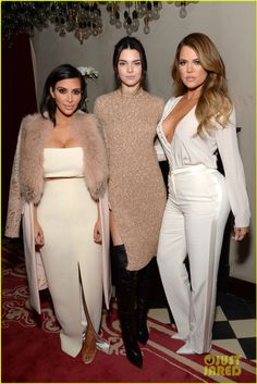 Kendall Jenner Wraps Her Leg Around Khloe Kardashian Like She Just Don't Care.  Kendall Jenner strikes a pose with her sister Khloe Kardashian while attending the launch of Simon Huck`s Command Entertainment Group at the Gramercy Park Hotel  in N.Y.C .  The two sisters were joined by their older sister Kim.