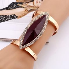 LZHLQ 2019 New Fashion Maxi Metal Bangles Women Trendy Resin Mosaic Crystal Bracelet Smooth Wide Opening Adjustable Bangle Metal Bracelets, Crystal Bracelets, Bracelets For Men, Bangle Bracelets, Bangles, Silver Bracelets, Leather Jewelry, Silver Jewelry, Bling Jewelry
