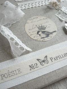 Rubber stamp hemp/burlap