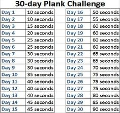 Get a stronger core in only 30 days with the On The Fly 30-day Plank Challenge!