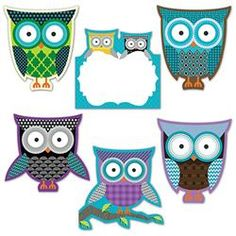 Owls Cutouts - Go out on a limb this #school year with owl-themed #classroom decorations and organizational supplies. Choose from our collection of borders, notepads, charts, cutouts, awards, and a lot more! #Teaching has never been such a hoot!