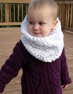 ***This is a crochet PATTERN for you to make your own Snow Baby Cowl. This is not a finished cowl!***    Cowls are THE thing and what better way to