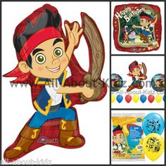 Disney Jake and The Never Land Pirates Birthday Party Balloons Make Your Own Set | eBay