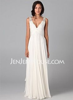 Cheap gown cover, Buy Quality dress bird directly from China dress for wedding reception Suppliers: Simple White Chiffon Boho Wedding Dresses 2016 Robe De Mariage Beading Spaghetti V-neck Wedding Bridal Gowns Floor Length Prom Dresses Under 200, Cheap Prom Dresses, Dress Prom, Party Dresses, Formal Dresses, Dresses 2014, Cheap Dress, Homecoming Dresses, Formal Prom