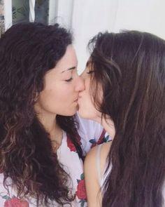Ebenholts och vita lesbiska