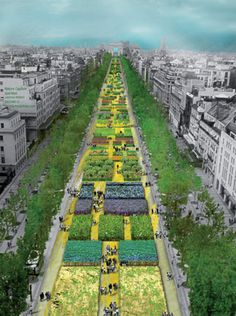 Nature Capitale, a project by Gad Weil, is transforming the Champs Elysees into a gigantic garden