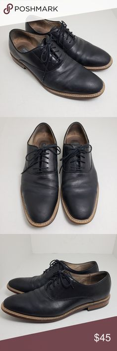 753c9253eca1 Aston Grey Collection Mens Lace Up Shoes Sz 10 Aston Grey Collection Mens  Black Lace Up