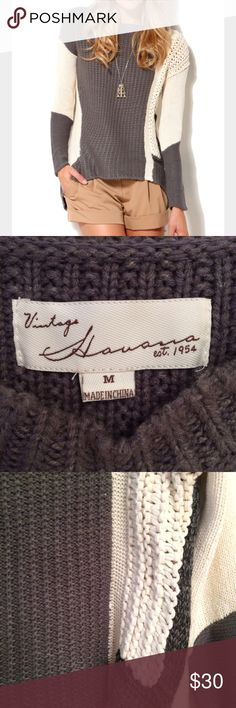 Vintage Havana oversize knit sweater medium Good, lightly used condition Vintage Havana sweater from Nordstrom size medium Nordstrom Sweaters Crew & Scoop Necks