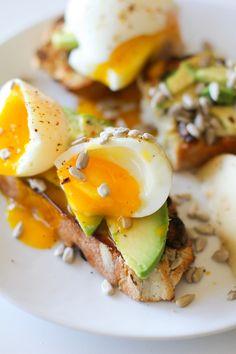 Breakfast Toasts with Soft Boiled Egg and Avocado on Irish Soda Bread