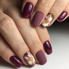 Nail art Christmas - the festive spirit on the nails. Over 70 creative ideas and tutorials - My Nails Mauve Nails, Gold Nails, Burgundy Nails, Brown Nails, Glitter Nails, Nail Designs Spring, Nail Art Designs, Nails Design, Spring Nails