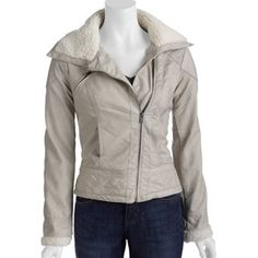 Details Women's Sherpa Collar Faux Leather Jacket #fittingroomcontest