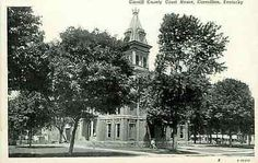 Carrollton Kentucky KY 1914 Carroll County Court House Antique Vintage Postcard