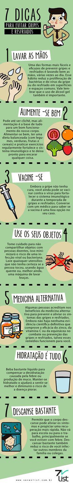 dicas simples para evitar gripes e resfriados