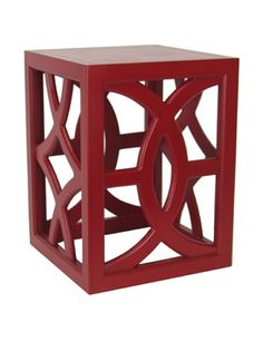 51% OFF Charleston Furniture Geo Table (Red)