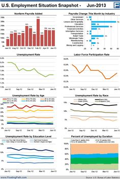 U.S. Employment Situation Snapshot - June 2013