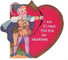 Vintage Valentine Postcards and Illustrations for Collectors: Boy Robin Hood