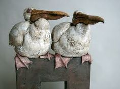 geometric clay sculpture bird - Google Search
