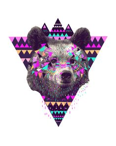 Buy Fleece Throw Blanket with Piniata Bear designed by Kris Tate. One of many amazing home décor accessories items available at Deny Designs. Art And Illustration, Popular Art, Arte Popular, Art D'ours, Wallpaper Fofos, Ohh Deer, Bear Print, Art Moderne, Art Graphique