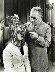 "blackandwtf:  1934  Max Factor demonstrates his ""scientific device"" the Beauty Micrometer which detects defects in feminine beauty that are imperceptible to the naked eye.  (via vintagegal)"