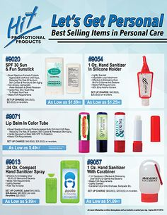 Let's Get Personal! Add Your Logo to a best selling personal care item!