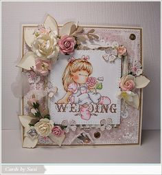 Cards by Susi: Back to nature/Tilda with Flowers @ Magnolia Mania Challenge Wedding Cards Handmade, Handmade Cards, Wedding Shower Cards, Magnolia Wedding, Magnolia Stamps, Back To Nature, Pretty Cards, Creative Cards, Shabby