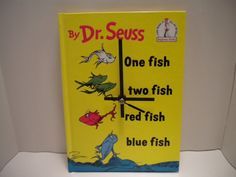Dr Seuss One Fish Two Fish Red Fish Blue Fish Book by OldRedBarn, $25.00