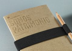 Somos Patrimonio - possible for promotional items for thesis. student can have their own little notebook branded under ocadyou