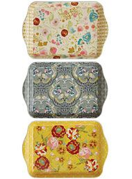 The New Victorians - Flowering Femme Vintage Style Trays Set by Creative Co-Op Home Decor