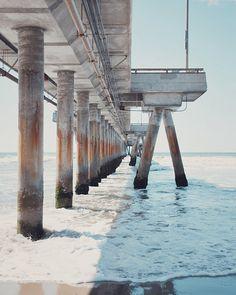 venice beach pier photo. RetroLovePhotography on etsy.