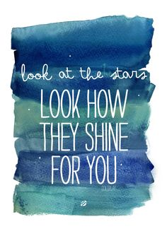 FREE Printable Personal use only -LostBumblebee ©2014 See how they Shine for You- Coldplay
