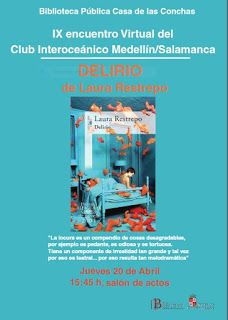 IX Encuentro Club Interoceánico (mayo 2017). Delirio de la colombiana Laura Restrepo Mayo 2017, Reading Club
