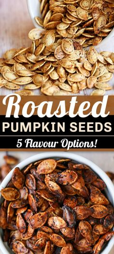 Recipes Snacks Sweet This is our no-fail method for making the perfect ROASTED PUMPKIN SEEDS. They make a healthy and crunchy snack. Plus, includes five simple but amazing seasoning options you have to try. Seasoned Pumpkin Seeds, Savory Pumpkin Seeds, Perfect Pumpkin Seeds, Homemade Pumpkin Seeds, Toasted Pumpkin Seeds, Roast Pumpkin, Easy Roasted Pumpkin Seeds, Baking Pumpkin Seeds, Pumpkin Spice Pumpkin Seeds