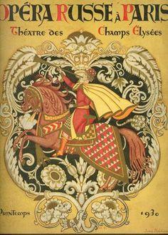 """Magazine+""""Russian+Opera+in+Paris""""+-+Ivan+Bilibin"""