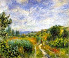 Pierre-Auguste Renoir - Landscape Near Essoyes (1892)