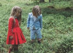 Lil Buckeroo ♥s  red dresses and vintage boys wear
