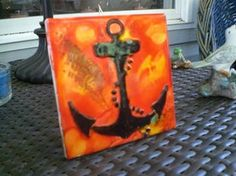 Anchor nautical art hand painted with by DawnsINKSpirations